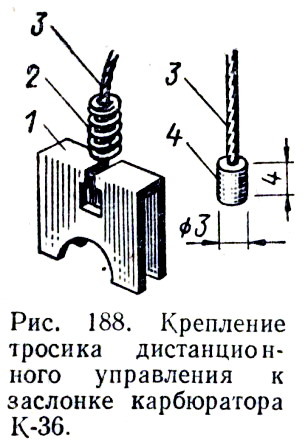 Дистанционное управление карбюратора.