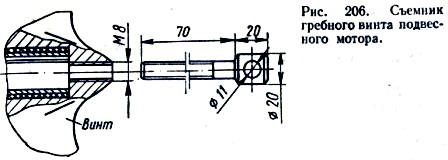Съёмник гребного винта подвесного мотора.