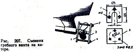 Съёмник гребного винта на катере.