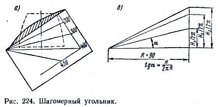 Угольник для измерения шага винта.