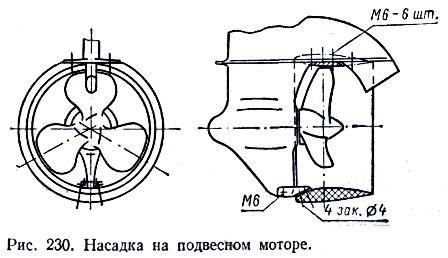 Насадка на подвесном моторе.