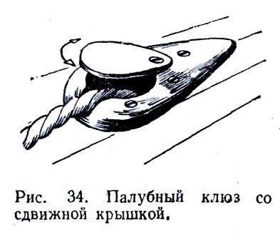 Палубный клюз с крышкой.