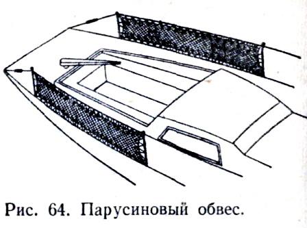 Парусиновый обвес катера.