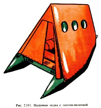 Тент-палатка на лодке.
