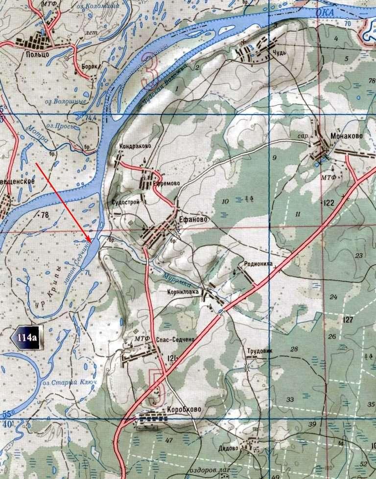 рыбалка в калуге места на карте