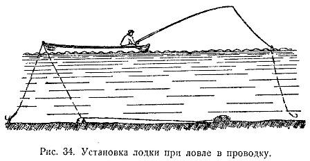 одному поставить сеть с лодки