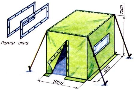 Небольшая палатка своими руками