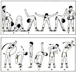 упражнения для разминки в 6 классе