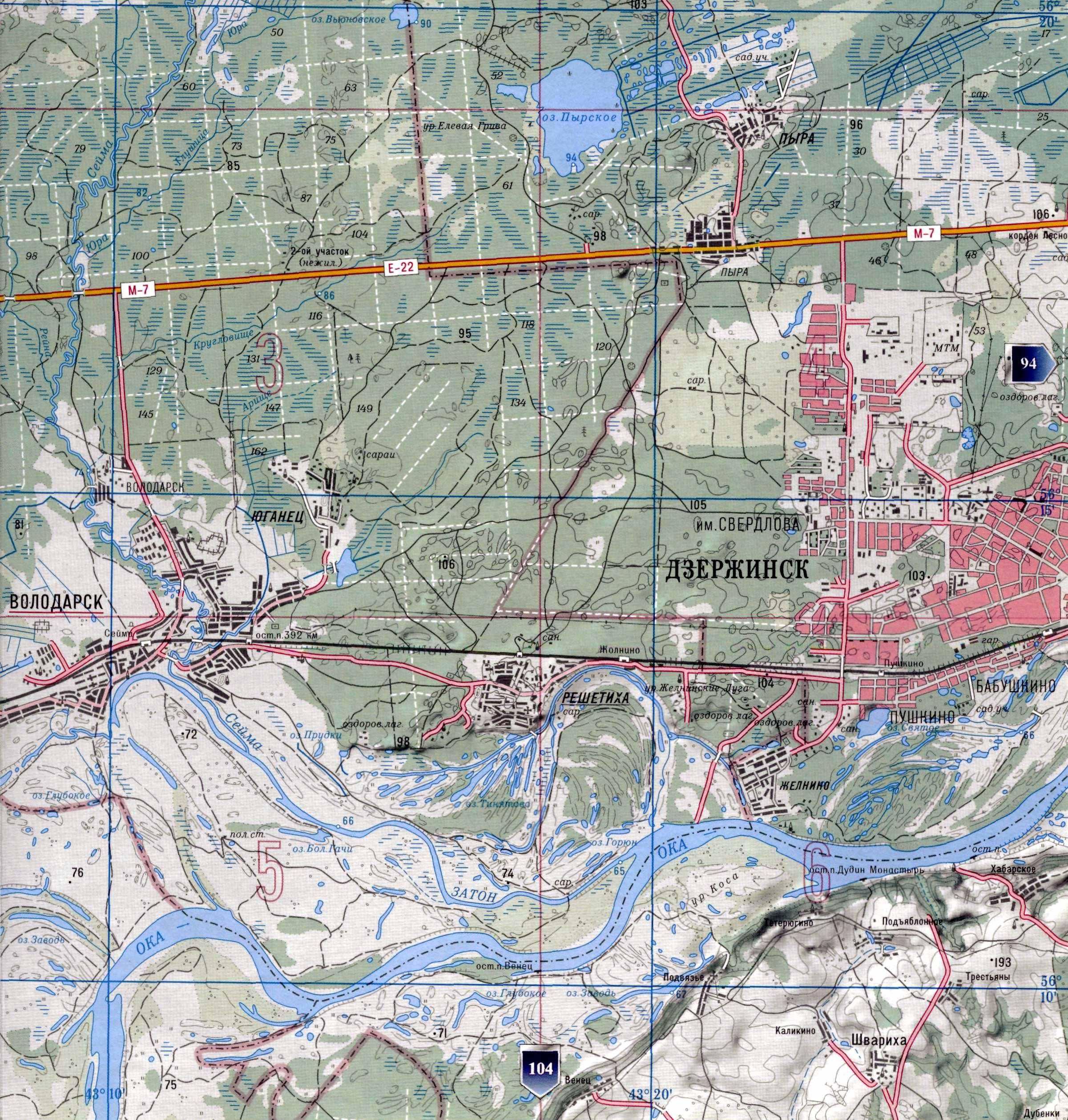 Смотрите карту глубин лоция реки ока