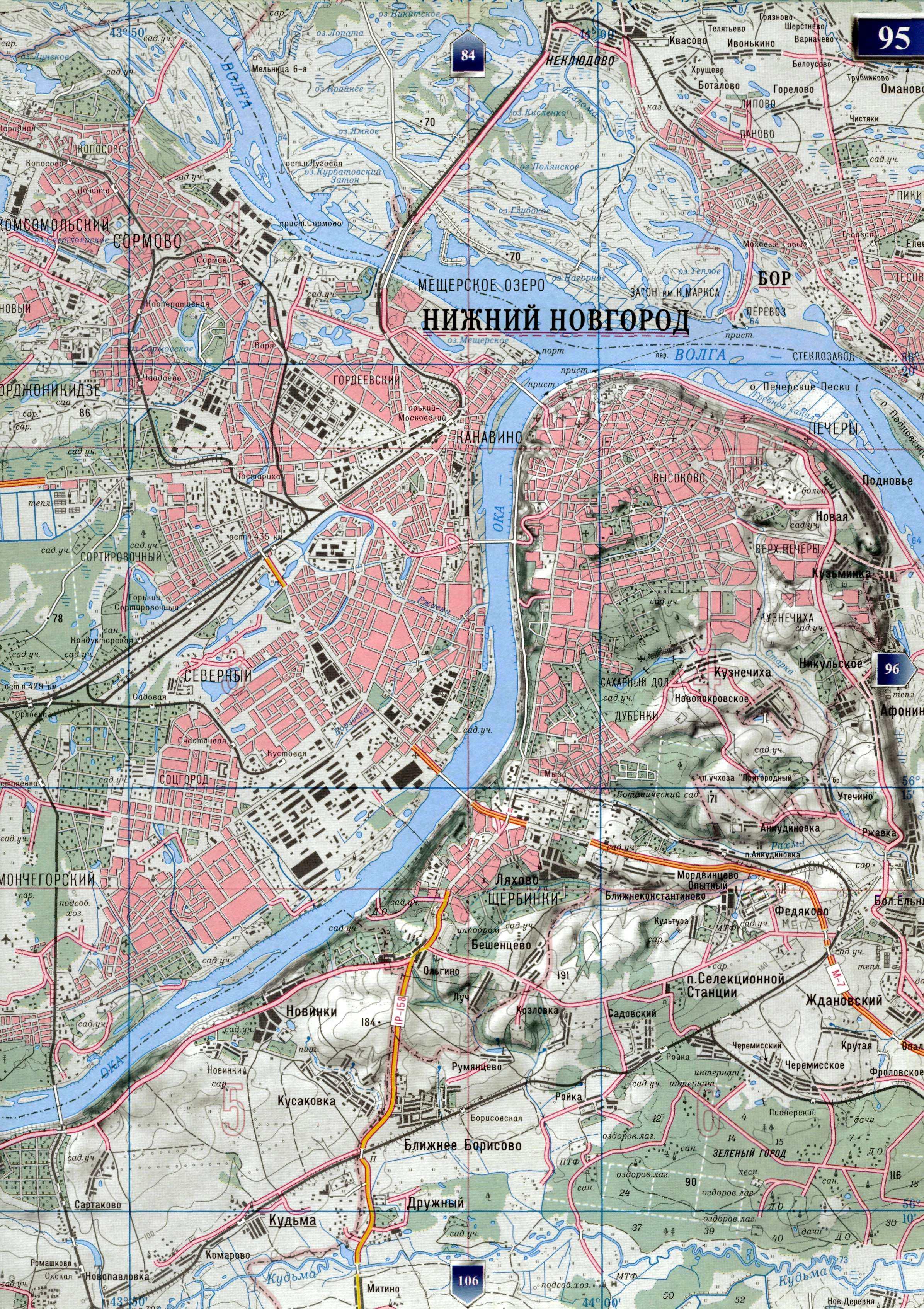 рыболовные места в нижнем новгороде на карте города
